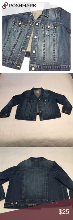 Old Navy Denim Jacket Old Navy plus size denim jacket is the perfect addition to any wardrobe. It has been well loved, but still in great shape! Nice, thick denim with a little bit of stretch. Hits at the natural waist. 🚫TRADES Old Navy Jackets & Coats Jean Jackets