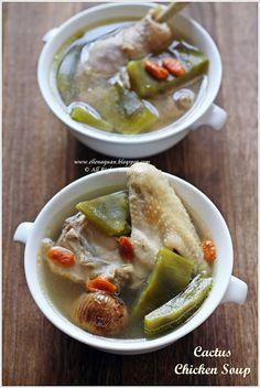 Cuisine Paradise | Singapore Food Blog - Recipes - Food Reviews - Travel: Cactus Chicken Soup @Ellena | Cuisine Paradise