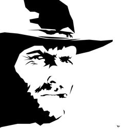 Clint Eastwood by Arian-Noveir on DeviantArt Spray Paint Stencils, Stencil Art, Stenciling, Black Rose Picture, Blue Ghost Rider, Military Action Figures, Shadow Photos, Banksy Art, Pop Art