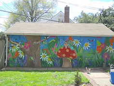 Interior Garden · Mural Ideas · Outdoor Shed. Fun!