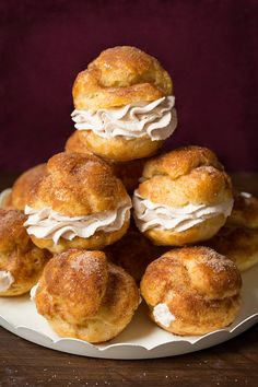 Churro Cream Puffs -