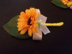 Svadobné pierko rodič/svedok - slnečnica -žltá + biela