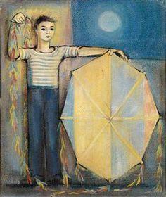 «Χαρταετός», έργο του αλεξανδρινού ζωγράφου Γιάννη Μαγκανάρη (1918-2007).