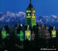 ~ County Building by Night ~ Salt Lake City, Utah....