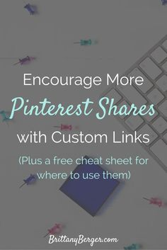 Custom Pin It Links (plus a free cheat sheet for where to use them) Content Marketing, Online Marketing, Social Media Marketing, Marketing Strategies, Social Media Design, Social Media Tips, Social Media Cheat Sheet, Business Education, Business Coaching