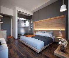 déco de luxe et tête de lit en bois