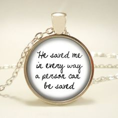 Titanic Quote by Rose He Save Me in Every Way a by RosiesPendants, $12.95
