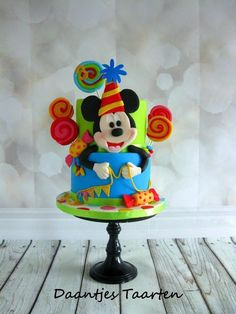 For a cute little boy i made this Mickey Mouse cake  Made one months ago but tried to make him a little bit different