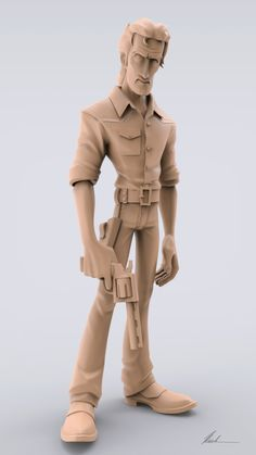 Rick Grimes Sculpt, Nicole Padilha on ArtStation at https://www.artstation.com/artwork/kewB2
