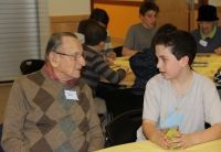 Lynda Bussgang, the Multigenerational Program Manager at Hebrew SeniorLife, recounts her experience working with a local social studies teacher to bring the time of WWII to life in the classroom by preparing HSL residents who lived through the Second World War to share their personal histories with students in the classroom. Read more: