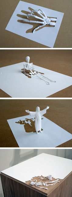 Paper Sculpture by Peter Callesen