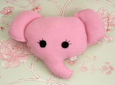 Elephant Pillow  Nursery Decor  Animal Babyshower  by ogsplosh