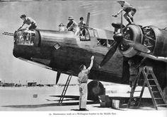 Wellington bomber maintenance.