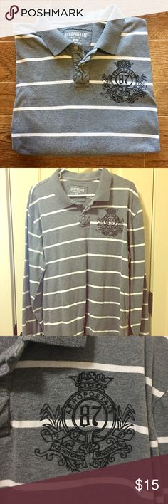 Aeropostale- Men's XL Longsleeve Aeropostale brand men's extra-large longsleeved shirt, in great preowned condition. Please be sure to check out all of my other men's items to bundle and save. Same day or next business day shipping is guaranteed. Reasonable offers will be considered! Aeropostale Shirts