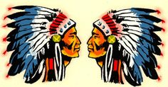 Original Vtg Water Decal Native American Indian Chief Headdress Auto Travel Old | eBay