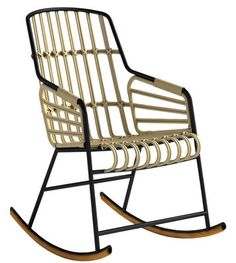 Raphia Rocking chair Grey by Casamania - Design furniture and decoration with Made in Design