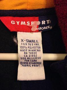 "Vintage Gymboree Gymsport ""Stadium"" Football Fleece Size X-Small 18-24 Months | eBay"