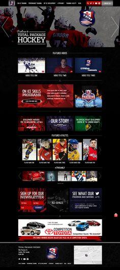 #Hockey #training #website #design By www.zoomedia.ca