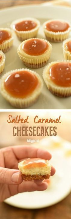 Salted Caramel Cheesecakes