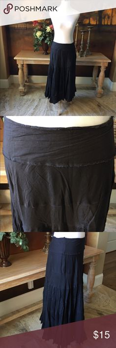 """""""Mix Nouveau"""" Skirt Long flowy black skirt in great used condition. No pet/non-smoking home. Skirts"""