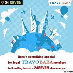 Travelling just got more fun exciting and rewarding! Download the TravoBaba app to grab amazing deals at your nearest 24SEVEN store. . . . . . . #TravoBaba24SEVEN #ShopAndWinContest #24SEVENoffer #TravoBaba Domestic Flights, More Fun, Travelling, App, Activities, Store, Amazing, Storage, Apps