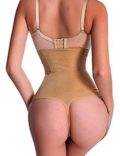 75df51f2e89 High Elastic Thong Panties Butt Lifter Enhancer HiWaist Tummy Control  Slimming S Beige -- Check out this great product.