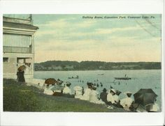 Old Photo Bathing Scene Exposition Park Conneaut Lake Pa 1913