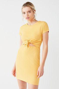 98ec645c26 UO Tie-Front T-Shirt Dress