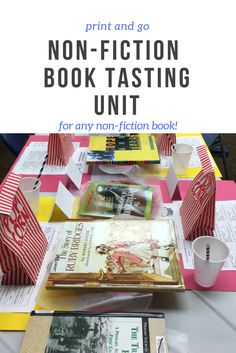 This engaging non-fiction book tasting has everything you need to set the stage to engage! Transform your classroom into a diner complete with menu, table numbers, and much more! This unit can be used with ANY non-fiction books!