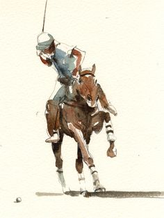 by Tony Belobrajdic Watercolor Horse, Watercolor Paintings, Horse Drawings, Art Drawings, Sports Painting, Polo Horse, Horse Sketch, Art Assignments, Sport Of Kings