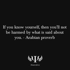 know yourself | and no one can harm you