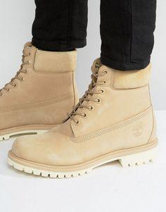 Classic 6 Inch Premium Boots - Beige Timberland KP0Wv