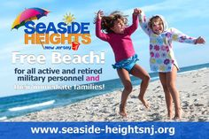FREE beach ALL SUMMER  in #SeasideHeights for all active & retired military personnel and their immediate families! pic.twitter.com/whfHYmfgGq
