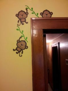 Create a critter monkey for jungle theme nursery