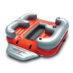 Overton's : Sea-Doo Aqua Lounge 4 Inflatable - Watersports > Lake & Pool Leisure > Party Island Floats : Lake Toys, Lake Rafts, Water Toys, Floating Decks, Rafts