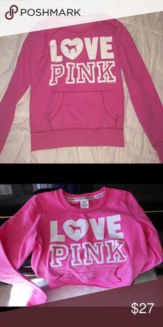 Love Pink Crewneck Crewneck! PINK Victoria's Secret Sweaters Crew & Scoop Necks