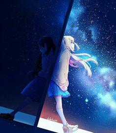 anime, fantasy, and girls image Sad Anime Girl, Anime Art Girl, Anime Love, Anime Girls, Kawaii Anime, Manga Anime, Anime Galaxy, Arte Obscura, Anime Lindo