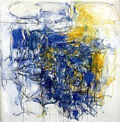 Painting - Joan Mitchell.              Hudson River Day Line 1955.