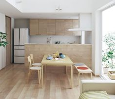 NewLivingStation Japanese Home Design, Japanese House, Furniture Plans, Home Furniture, Dining Bench, Kitchen Dining, Muji Home, Dream Apartment, Minimalist Home