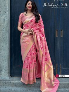 MANJUBA D.NO.-1609 RATE : 1795 - MANJUBA MAHAKANTA SILK 1601 TO 1610 SERIES  TRADITIONAL PURE JAMDANI SILK WITH MINAKARI WEAVING  SAREE DEALER ON DSTYLE ICON FASHION. CALL ON +91-7698955723 - DStyle Icon Fashion