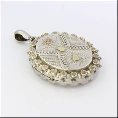 English Victorian Large Gold Appliqué Locket