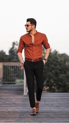 Mens Casual Dress Outfits, Cool Outfits For Men, Formal Men Outfit, Cool Summer Outfits, Stylish Mens Outfits, Hot Outfits, Formal Wear For Men, Cool Shirts For Men, Formal Dresses For Men