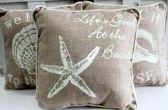 Seashell Throw Pillows | Beach, Seashell, Coastal & Nautical Gifts