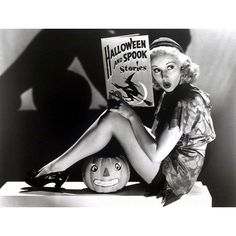 Vintage Halloween Hollywood Actress Pin-Ups | grayflannelsuit.net ❤ liked on Polyvore featuring backgrounds, pictures, filler, frames & background and halloween
