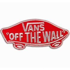 Vans off the Wall SKATEBOARD RED IRON ON PATCHES WITH FREE GIFT ($5.49) ❤ liked on Polyvore featuring fillers and patches