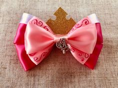 Your place to buy and sell all things handmade Disney Hair Bows, Disney Sleeping Beauty, Disney Diy, Mickey Ears, Ribbon Crafts, Mouse Ears, Hairbows, Disney Style, Crowns