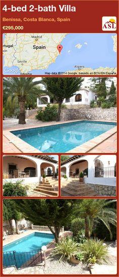 4-bed 2-bath Villa in Benissa, Costa Blanca, Spain ►€295,000 #PropertyForSaleInSpain