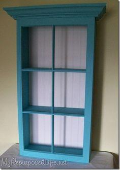 Shelf made from an old windar ;) .. Awwsum!!!