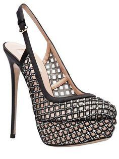 99587b2f82fc VALENTINO GARAVANI - Crystal slingback platform 2  Platformpumps Slingback  Shoes