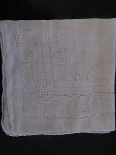 Vintage White Wedding Bride/Bridal Handkerchief by PrinceSnowFarm, $5.00